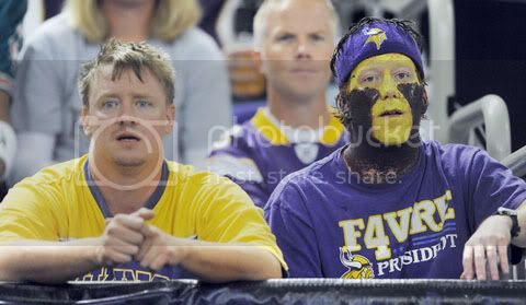 Minnesota Vikings fans look despondent during loss on 09/19/10 to Miami Dolphins (photo courtesy of Sun-Sentinel.com)