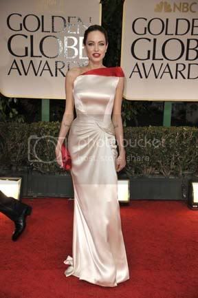 Angelina Jolie at the 2012 Golden Globes